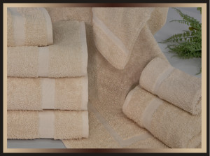 Cam Border Beige Hotel Towels